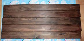 ハンドメイド作品の背景の木の板を自作しました